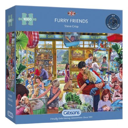 Furry Friends by Steve Crisp 1000 Piece Gibsons Jigsaw
